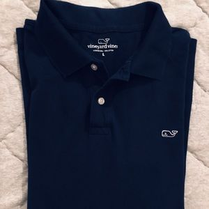 Vineyard Vines Men's Long Sleeve Pique Polo